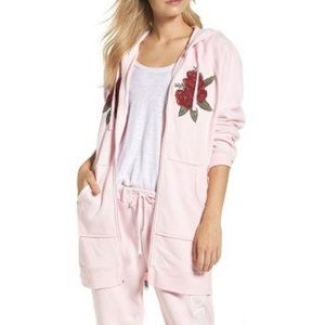 NWT BRUNETTE THE LABEL / BLONDE ROSES SWEATER PINK